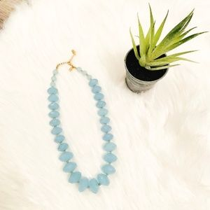 Blue Gem Statement Necklace